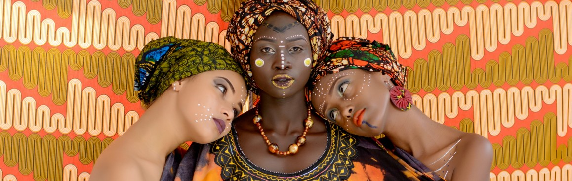 Three Black Women With Headties