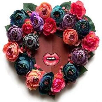 BlackOwnedBusiness BROTHASNSISTAS FloralFroHeartWreath