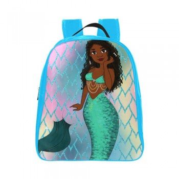 BlackOwnedBusiness BROWN GIRLS STATIONARY Mermaid Scales Mini Bestie Backpack