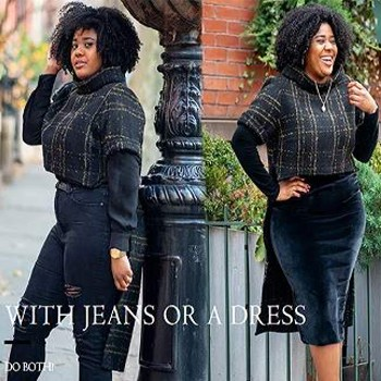 BlackOwnedBusiness GWENBELOTICOLLECTION HighLowSleevedPonchoWool