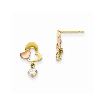 BlackOwnedBusiness BRILLIANT BIJOU K Yellow & Rose Gold Madi K SE Heart Dangle Post Earrings Xmm