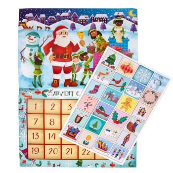 Little Likes Kids™ Childrens Advent Sticker Calendar Caucasian Santa