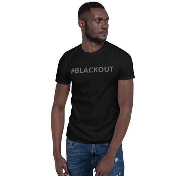 BlackOwnedBusiness Ujamaa Lighting BLACKOUT T Shirt