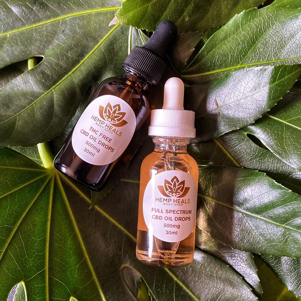 Hemp Heals Body Shop   CBD Oil Drops Product Pic
